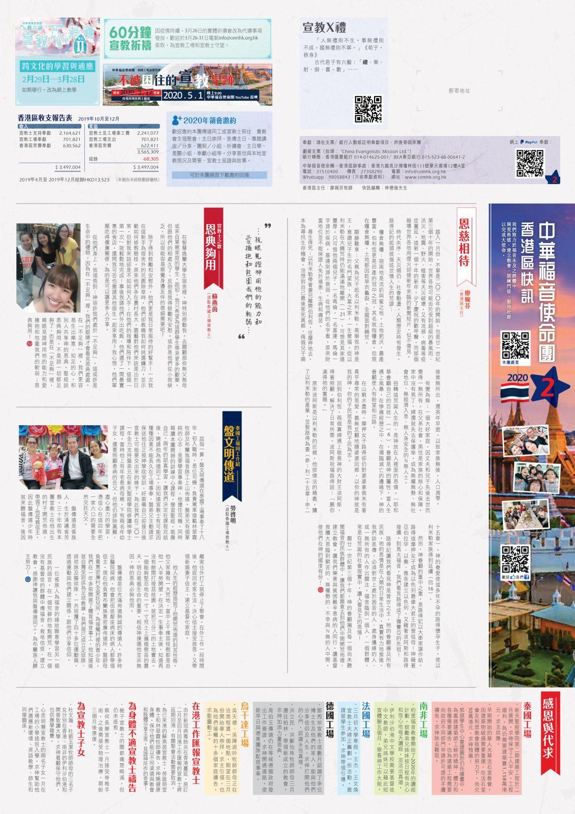 香港區快訊 2020(02)-01