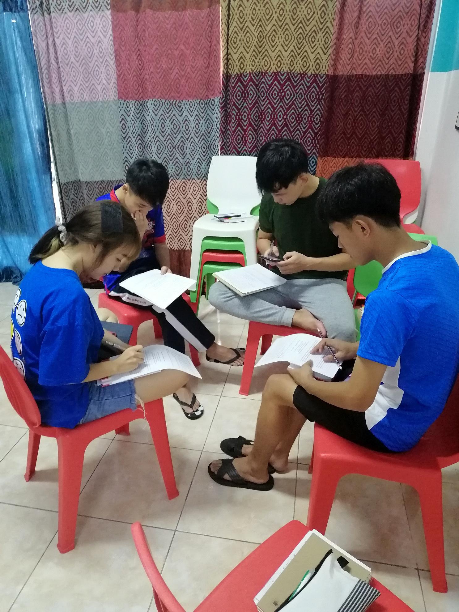 小組討論前努力預備